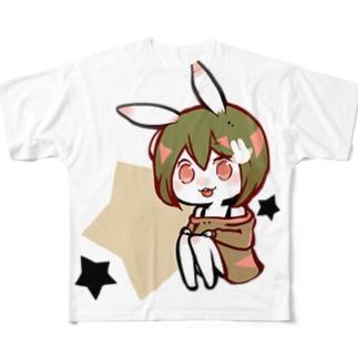 【スズリ限定カラー】らぱんちゃん Full graphic T-shirts
