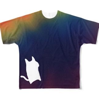 いむねこ虹2 Full graphic T-shirts