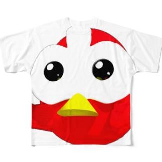 OMTNS Red ファイティングポーズ フルグラフィックTシャツ