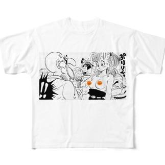 ぷりっ Full graphic T-shirts