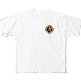 DEVGRU ライオン丸型2(ワンポイント) Full graphic T-shirts