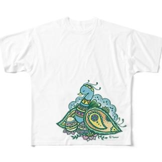 ヘナアート 孔雀 Full Graphic T-Shirt