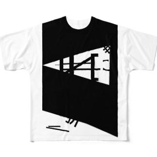 抽象boy「benD and folD」 Full graphic T-shirts