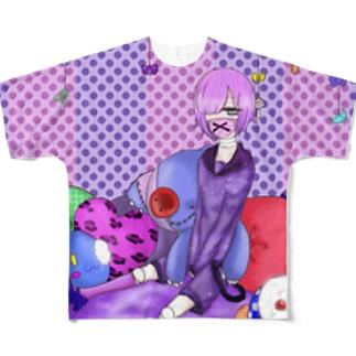 1人ぼっちのお人形さん Full graphic T-shirts