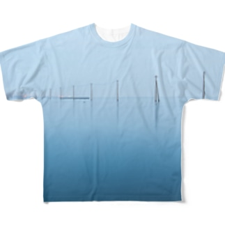 海と電柱のTシャツ Full graphic T-shirts