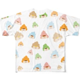 カラフルご不浄くん Full Graphic T-Shirt
