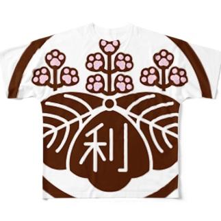 パ紋No.3011 利 Full graphic T-shirts