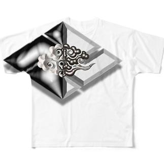RMk→D (アールエムケード)の卍雷運 Full Graphic T-Shirt
