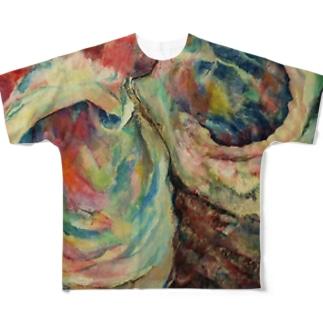 サザエの穴 Full graphic T-shirts
