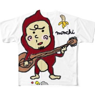 もんちさん Full graphic T-shirts