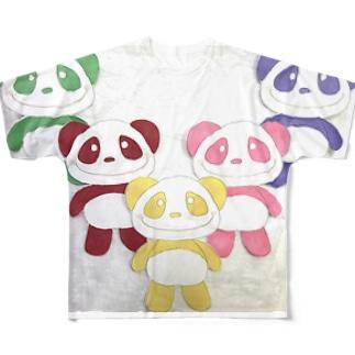 イエローパンダとなかまたち Full graphic T-shirts