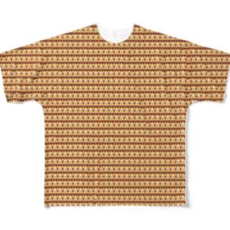 色んなシャレコウベ フルグラフィックTシャツ