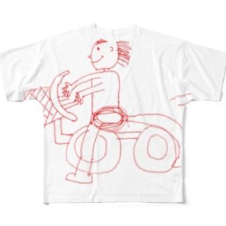 ちゃりたうろす Full graphic T-shirts