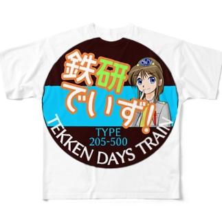 鉄研でいずヘッドマーク柄 Full graphic T-shirts