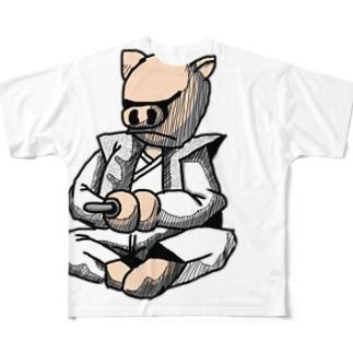 ハラキリ Full graphic T-shirts