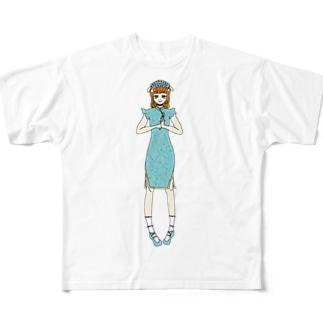 かえで(チャイナドレス) Full graphic T-shirts