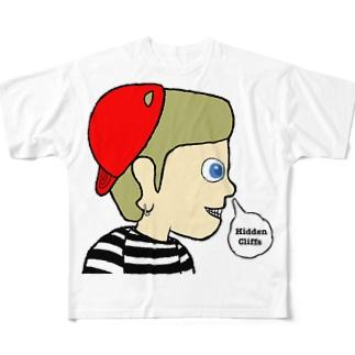 隠し事 Full graphic T-shirts