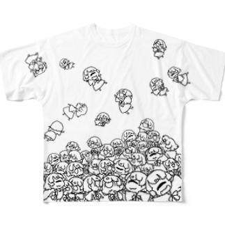麦坂さんがいっぱい Full graphic T-shirts