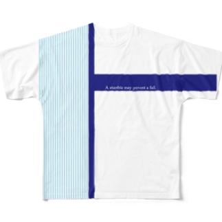 つまずきは、転落を防いでくれる Full graphic T-shirts