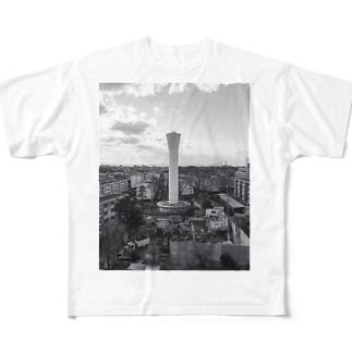 きゅうすいとうーと団地 Full graphic T-shirts