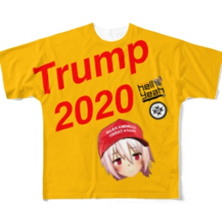 1776 hellyeah trump 2020 Full graphic T-shirts