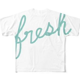 筆記なフレッシュ Full graphic T-shirts