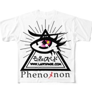 その名はスペィド「Phenoメnon」 Full graphic T-shirts