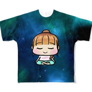HappyちゃんマントラT Full Graphic T-Shirt