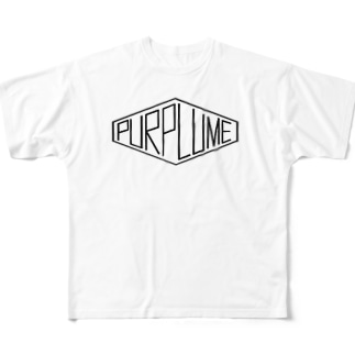 hexagon_purplume Full graphic T-shirts