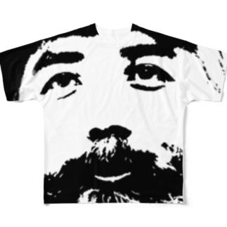 ディテールヤングT Black フルグラフィックTシャツ