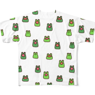 カエルいっぱい大集合 Full Graphic T-Shirt