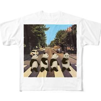 Pandas crossing  Full graphic T-shirts