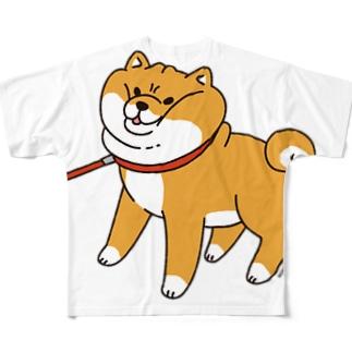 散歩から帰りたくない柴犬 Full graphic T-shirts