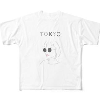 Hiroko💐のテクノなTOKYOガール Full Graphic T-Shirt