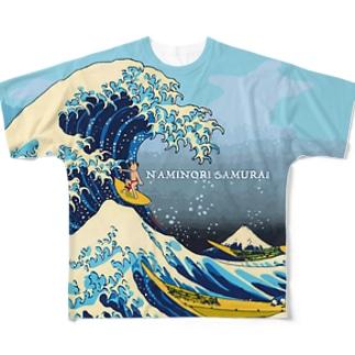 波乗りサムライ Full graphic T-shirts