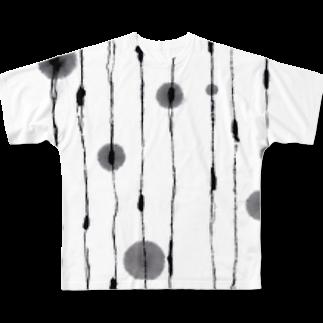 たろくろの墨遊び 01 Full graphic T-shirts
