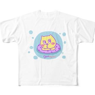 BooNyanの夏 Full graphic T-shirts