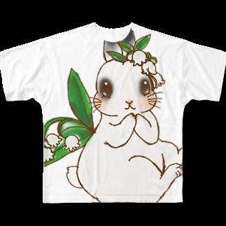 アトリエねぎやまのミルクちゃん Full graphic T-shirts