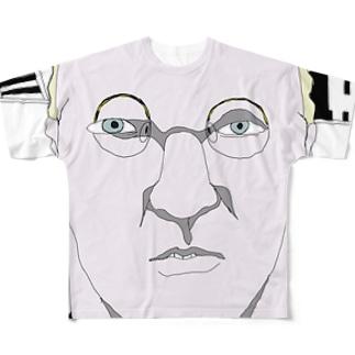 白人の中年紳士 Full graphic T-shirts