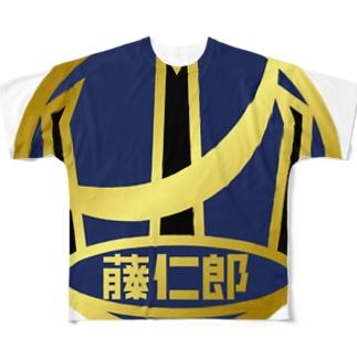 パ紋No.30874 藤仁郎 Full graphic T-shirts