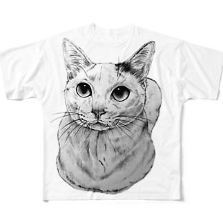 にゃんこ Full graphic T-shirts