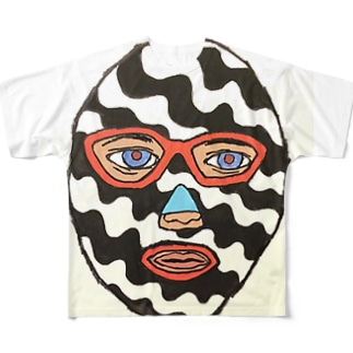 ストライプマスクマン Full graphic T-shirts