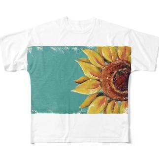 ひまわり Full graphic T-shirts