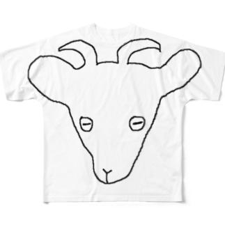 matsunomiの簡素なやぎ Full graphic T-shirts