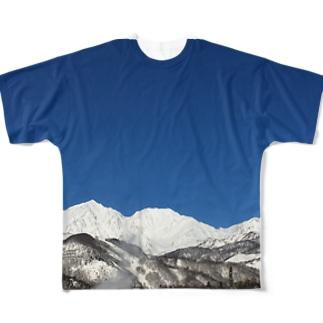 白馬三山 Full graphic T-shirts