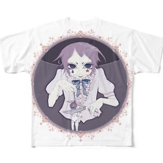 首切りピエロ newcolor ver. Full graphic T-shirts