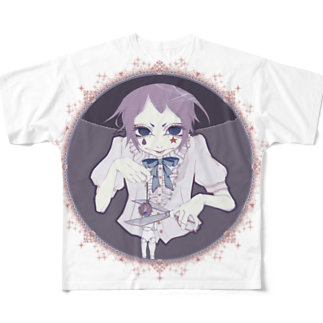 かつまた ゆいの首切りピエロ newcolor ver.フルグラフィックTシャツ