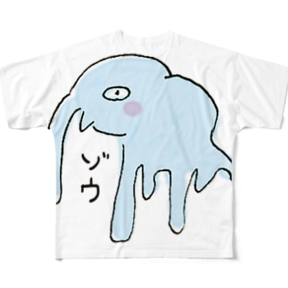 アベナオミの夫画伯が描いた動物【ゾウ】 Full graphic T-shirts