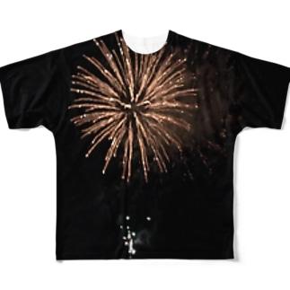 花火 Full graphic T-shirts