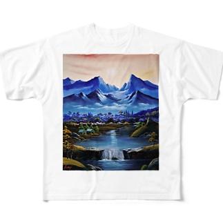 桃源郷 Full graphic T-shirts